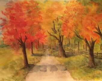 Autumn Road (Giclée  print)