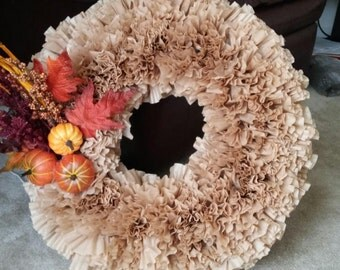 Coffee Filter Fall Wreath