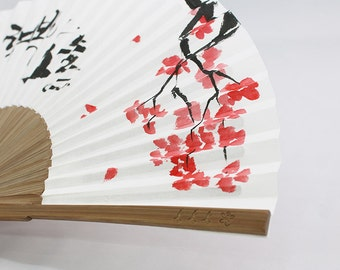 Korea calligraphy folding fan, Your name and words free write service, hand painting folding fan, sumi-e, hand fan, wedding fan, fan