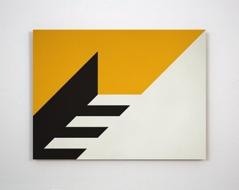 Original Modernist style abstract hard edge painting (No #229)
