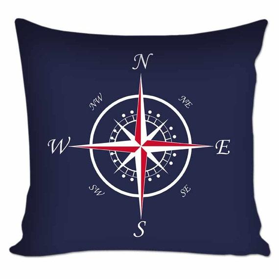Throw Pillow Nautical : Nautical Compass Throw Pillow Nautical Throw Pillow Custom