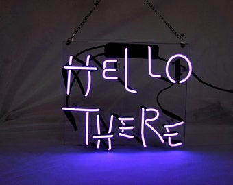"Handmade 'Hello there' Wedding Sweet Art Sign Handmade Neon Sign 12""x10"""
