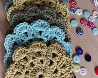 Crochet Coasters, Set of 6