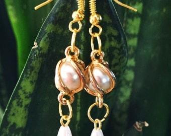 Drops earrings gold