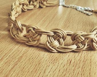 Pretzel knot choker necklace