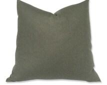Schumacher Oversized Heather Green Wool Pillow Cover
