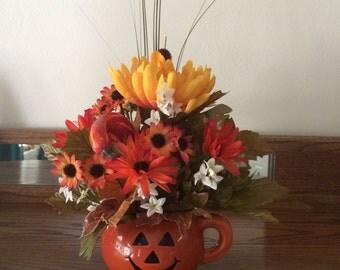 Fall Flower Arranagement,  Silk Flower Arrangement,  Home Decor