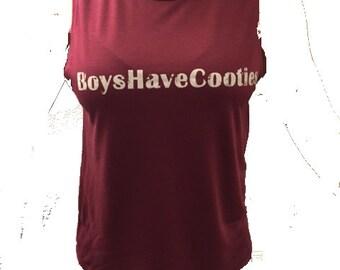 Women's BoysHaveCooties Muscle Tee