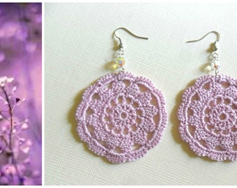 cotton crocher earrings