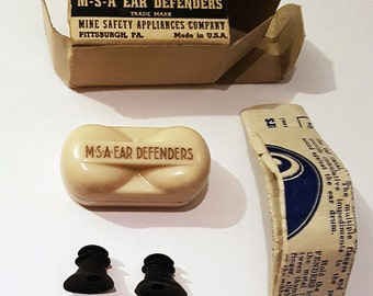 1940s M-S-A Ear Defenders in Original Box with Instructions