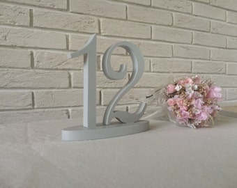 GOLD or Grey table numbers custom colors wooden numbers  for wedding numbers wood GLITTER Silver Purple Coral Pink Blue