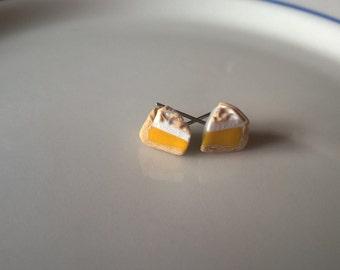 Miniature Lemon Meringue Pie Stud Earrings!