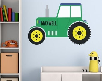 Personalised Tractor Digger Wall Art Sticker Decal Mural, Available In 2  Sizes U0026 2 Colours Part 78