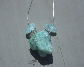 baby blue crystal necklace