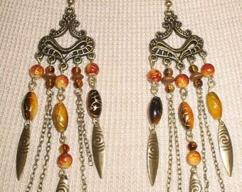 Chic Boho style chandelier Earrings