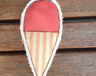 ice cream fabric fabric prongs pin brooches pins