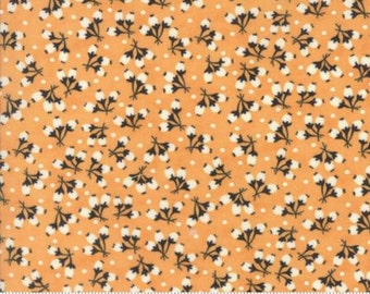 Cotton Puffs print in Pumpkin by Fig Tree Quilts- cotton fabric