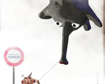 Illustration adventure imaginary elephant - by Omergraphie