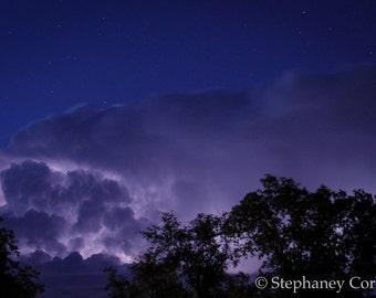 Stormy Night Sky Print, Nature Photography, Nature Print, Sky Print, Nighttime Sky Print, Photography, Prints
