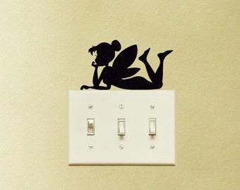 Tinker Bell Disney Light Switch Vinyl Decal Sticker Tinkerbell