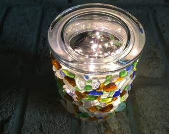 Seaglass Canister Jar