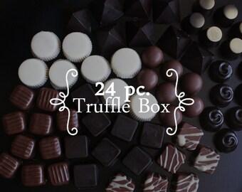 24 pc. Gourmet Chocolate Truffle Box