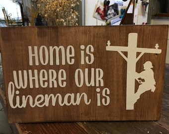 Home is where our lineman is