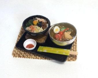 Free Shipping! Miniature Bibimbap and Korean Style Cold Noodle - CW-341mo