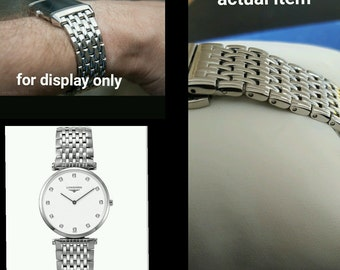 """HQ 20mm solid s/s """"jaeger"""" reverso,longines watches style bracelet.new"""