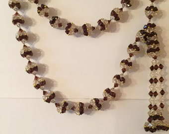 Brown & Clear Decorative Beads