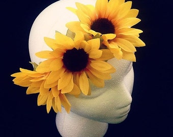 Sunflower headband