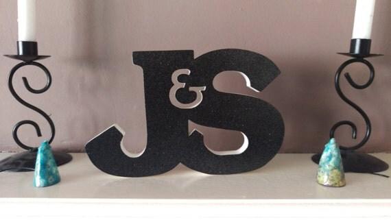 Wooden letter monogram.