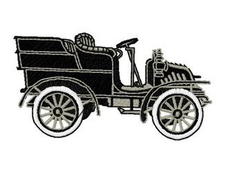 Antique Car Machine Embroidery Design, PES Format, 4x4 Hoop Size, Retro Old Car Embroidery Design