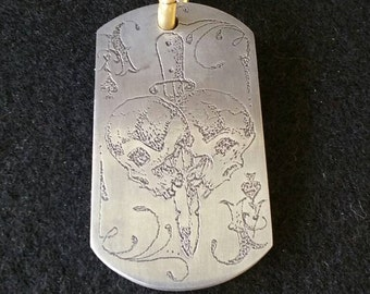 Ace of spades pendant or keychain