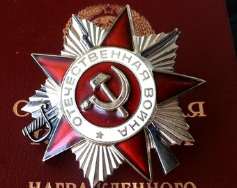 Soviet USSR Order of the Patriotic War 2nd Class Type 3 Silver