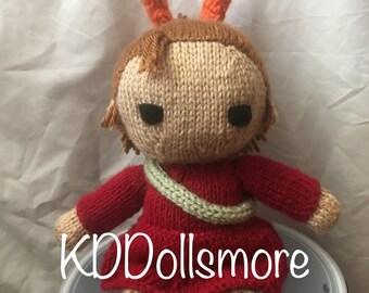 Knitted Arrietty Fan Doll
