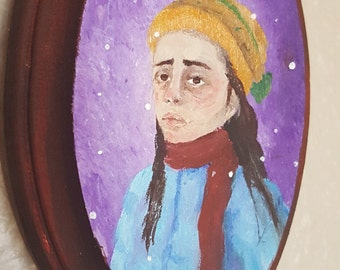 Painting: A Girl in Winter