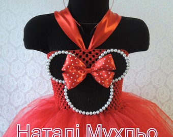 Minnie Mouse Outfit, Red Tutu Dress, 1st Birthday Girl Outfit, Baby Girl Party Outfit, Red Tutu Dress, Birthday Dress, Tutu Outfit