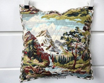 Quilted pillowcase mountain