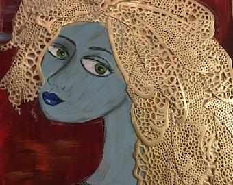 "Original mixed media painting ""Goldilocks"" by Anya Getter"
