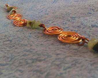 Copper coil bracelet