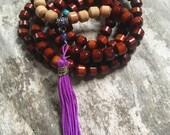 108 Wood Bead Mala Necklace