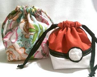 Pokeball Reversible Square-bottom Drawstring Bag