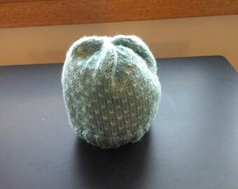 Girls hand knit beanie
