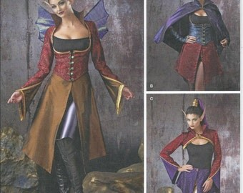 Simplicity 1138, Misses, Sewing Pattern, Womens, Vest, Jacket, Cape, Bolero, Skirt, Wings, Gauntlets, Cosplay, Size 14-16-18-20-22