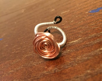 Copper Rose Wire Ring