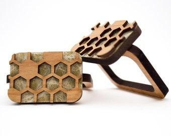 Honeycomb - Napkin Ring - Wooden
