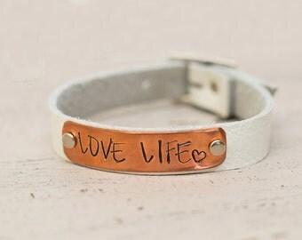 CC Copper Pin Buckle Bracelet
