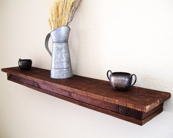 Rustic Floating Shelf Floating Shelves Wall Shelf Wood Shelf Rustic Shelf