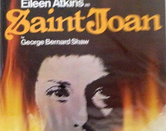 Vintage original theatre poster- Saint Joan starring Eileen Atkins at The Old Vic 1978